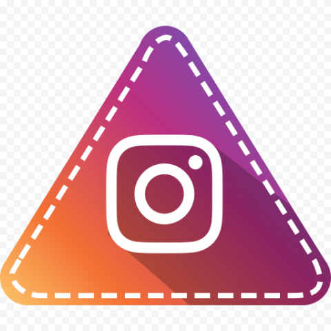 Triangle With White Instagram Logo Clipart
