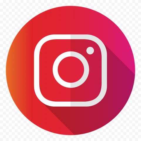 Flat Instagram White Logo In Circle