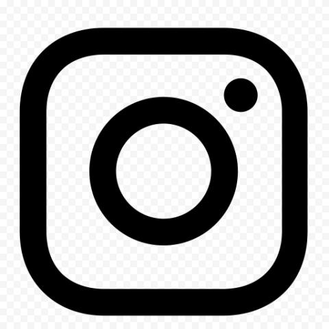 Black And White Outline Instagram App Logo Icon