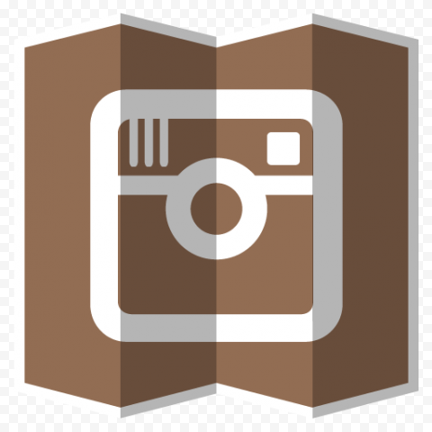 Brown Graphic Icon Contains Old Instagram Logo
