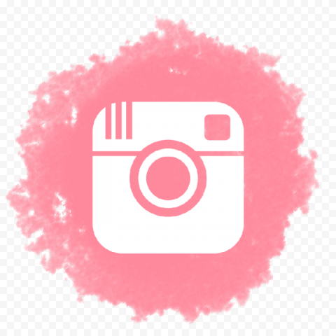 Pink Brush Watercolor Icon Old Instagram Logo