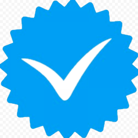 Blue Instagram Account Verified Check Mark Icon