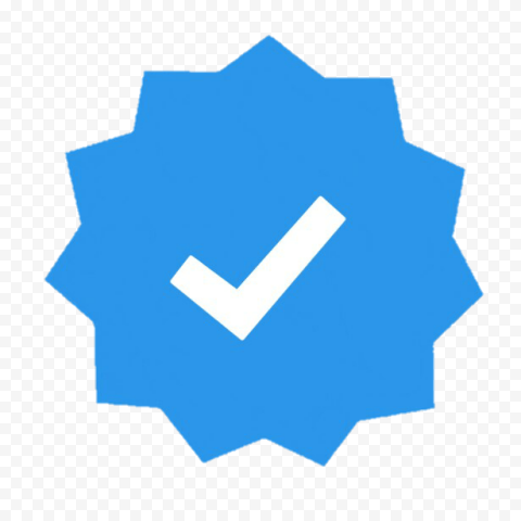 Blue Instagram Account Verified Symbol Sign Icon