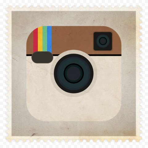 Vintage Stamped Old Instagram Logo