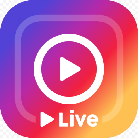 Instagram Live Streaming Logo Play Icon