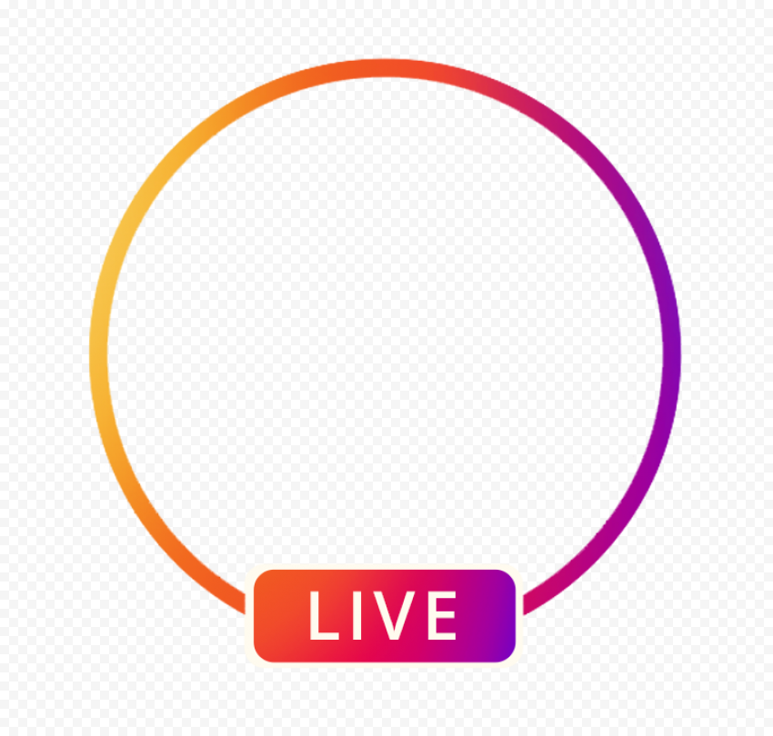 Circle Instagram Live Streaming Social Media Icon