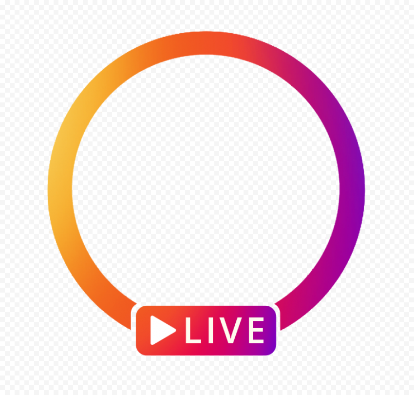 Live Instagram Circle Play Icon