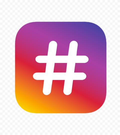 Square Instagram Logo With White Hashtag #