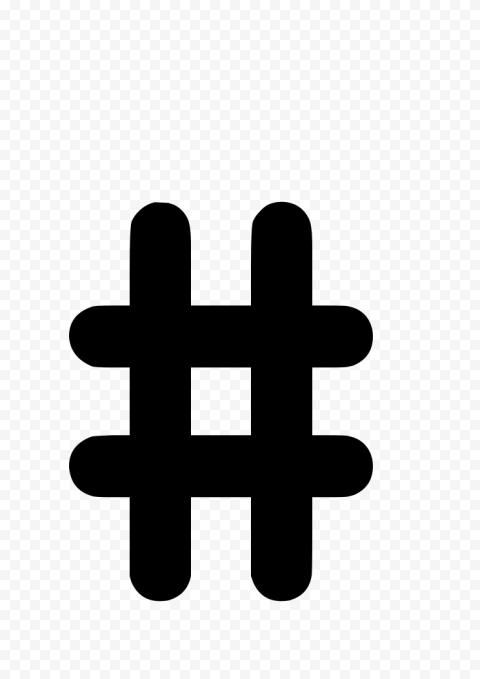 Black Hashtag # Social Media Computer Icon