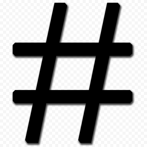 Black Hashtag # Computer Icon