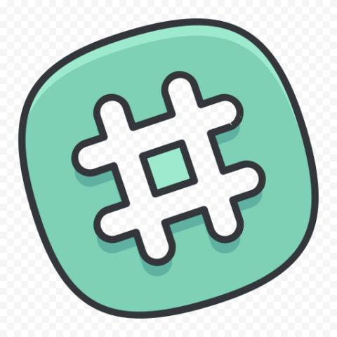 Square Hashtag Icon Social Media