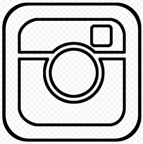 Black Outline Old Insta Logo Computer Icon