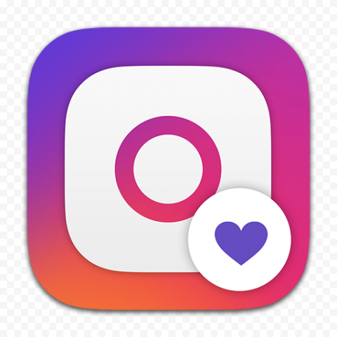 Instagram Square Logo With Like Heart Icon App