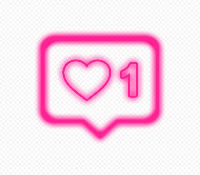 Instagram One Like Notification Neon