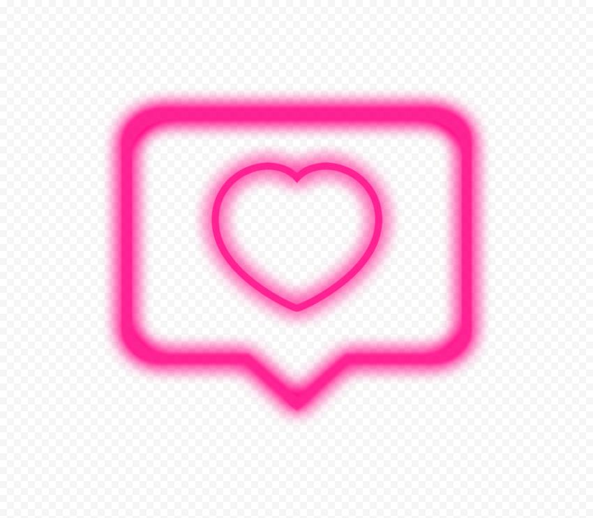 Pink Instagram Like Heart Notification Neon