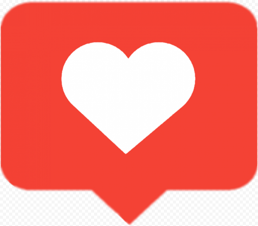 Red Like Notification Withe Heart Icon