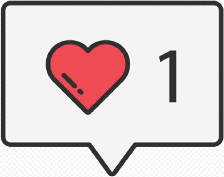 Like Notification Red Heart Clipart Social Media