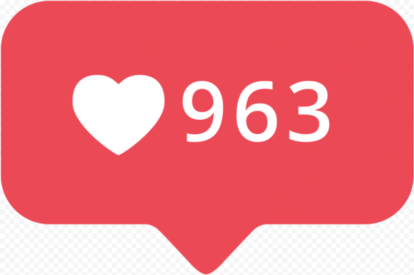 Instagram Likes Red Notification Icon