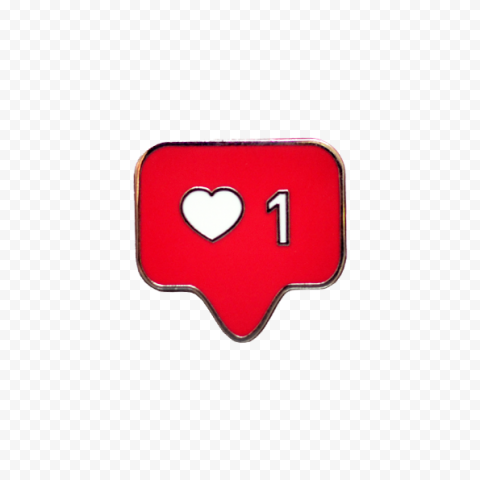 Instagram Like Red Notification Drawing Icon