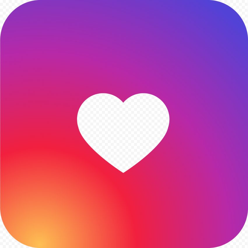 Instagram Square Icon Like Heart