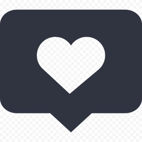 Social Media Like Notification Icon