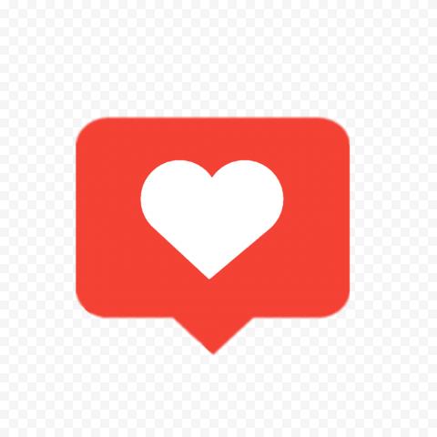 Red Heart Like Social Media Notification Love