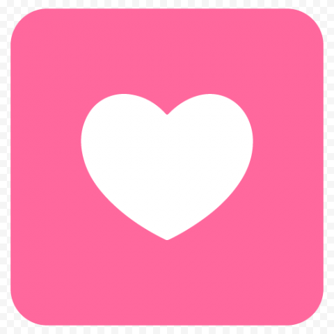 Pink Square Icon App Withe Heart Computer Icon