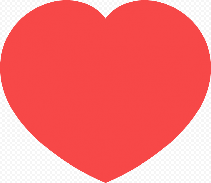 Social Media Red Heart Icon Like Love