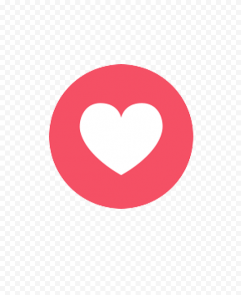 Facebook Heart Reaction Illustration Icon