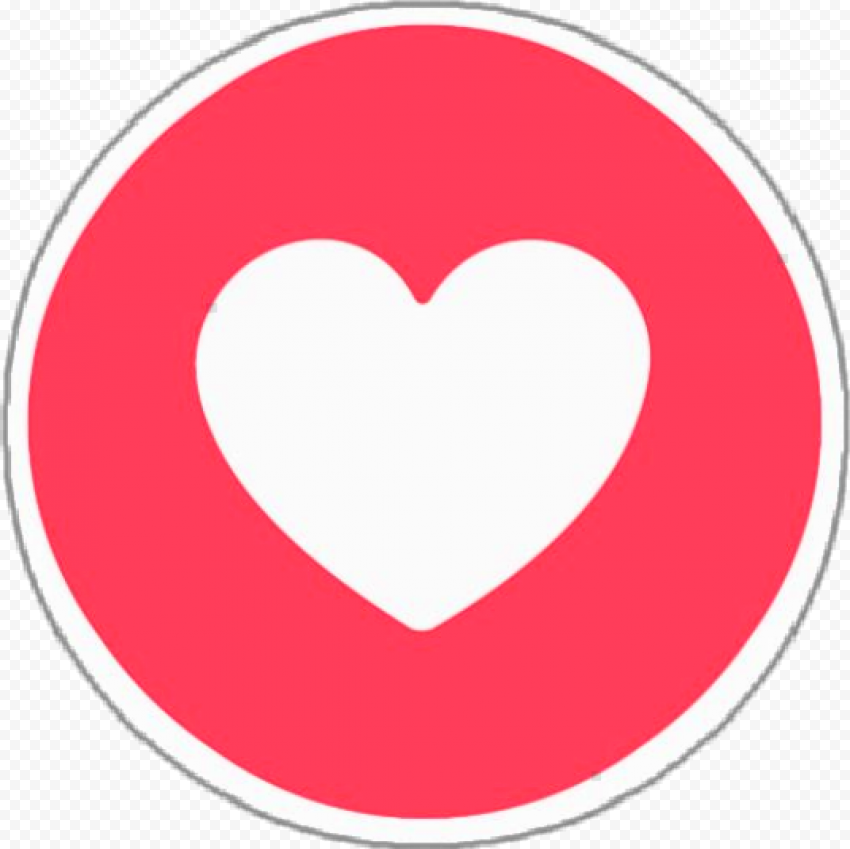 Round Facebook Like Heart Love Icon React
