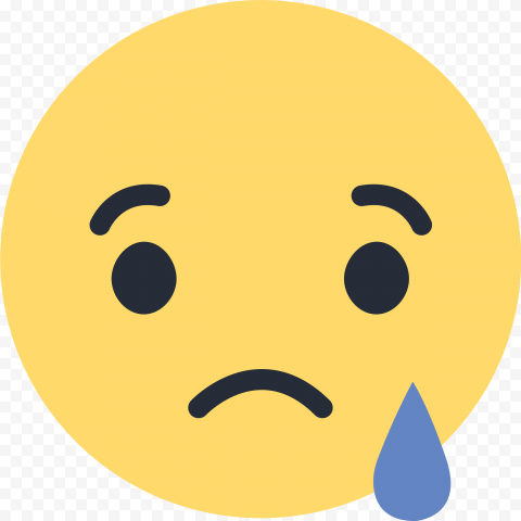 Sad Face Emoji Facebook Messenger React