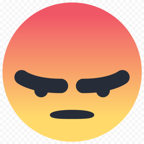 Angry Face Facebook Messenger React Icon