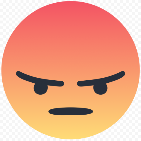 Facebook Reaction Angry Emoji Face Icon