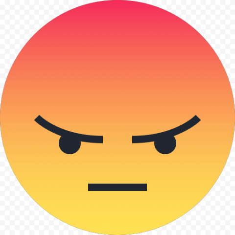 Facebook Reaction Like Angry Emoticon Face Icon