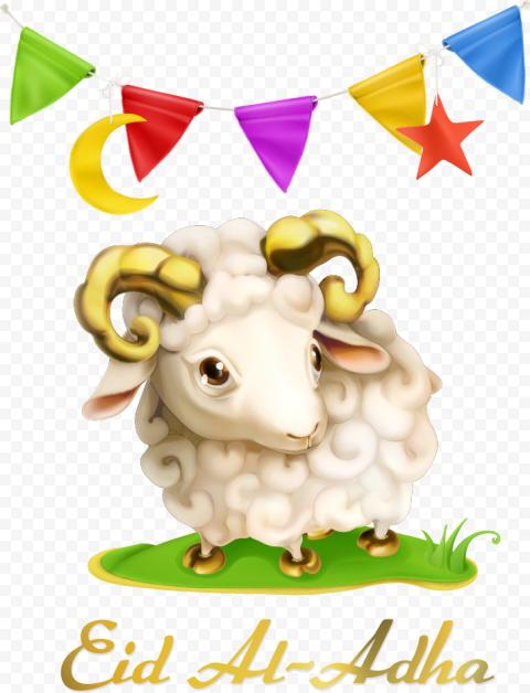 Happy Eid Al Adha Cartoon Illustration