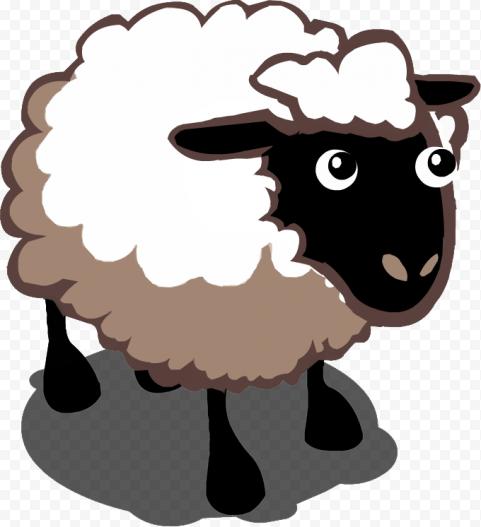 Cute Sheep Clipart Cartoon For Kids
