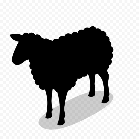 Sheep Black Silhouette