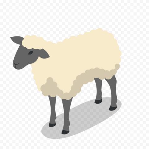 3D Cartoon Sheep Icon