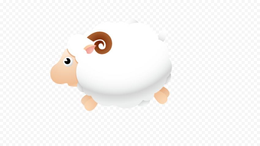 Cartoon Cute White Sheep Clipart