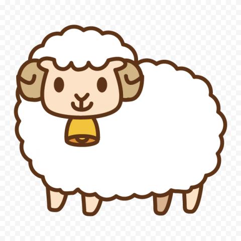 Cute White Sheep Clipart