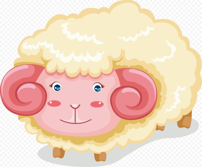 Cute Sheep Vector Illustration Cartoon
