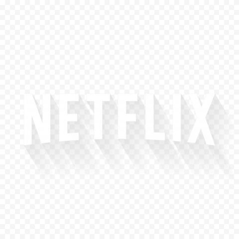 White Netflix Text Rectangle Logo