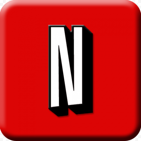 Red Square Contains White Netflix Logo