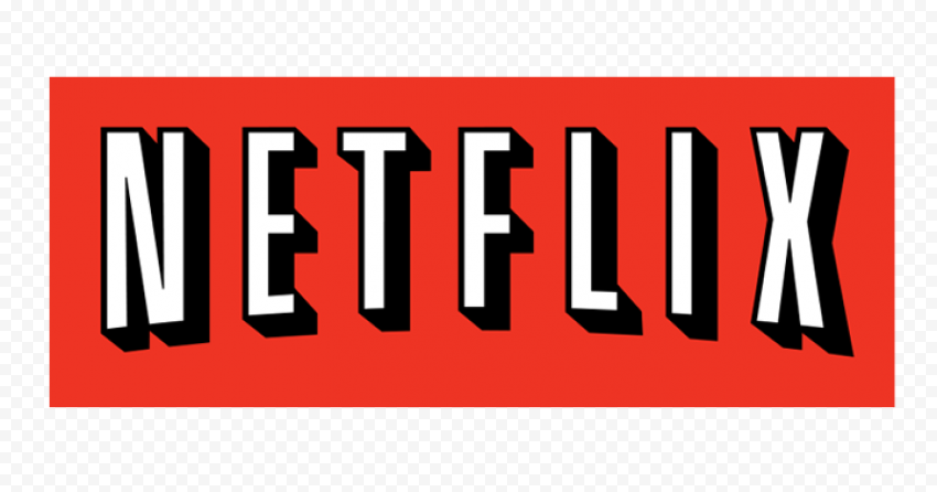 Red Rectangle Contains White Netflix Logo Text
