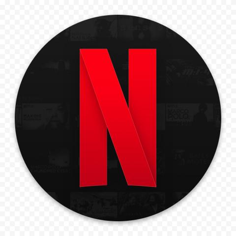 Round Netflix Logo