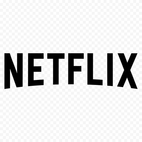 Black Netflix Text Logo