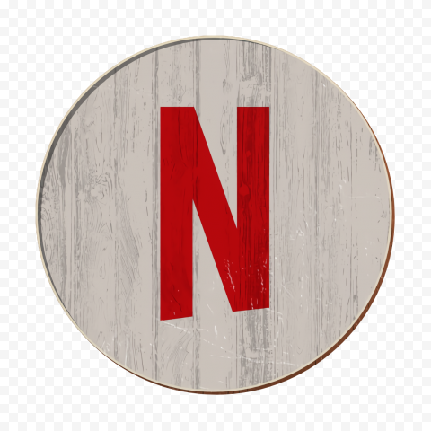 Round Netflix N Sign Symbol Logo
