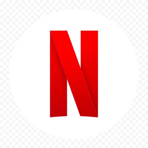 White Round Netflix Logo