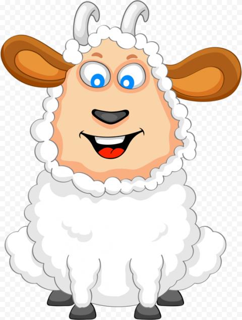 Happy Sheep Clipart Cartoon