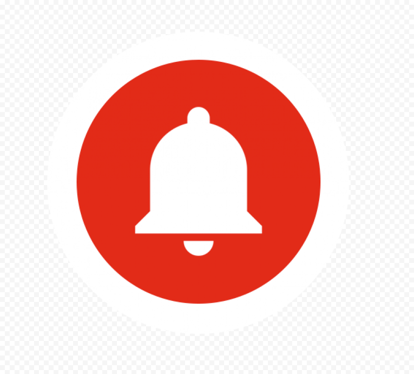 Youtube Circle Bell Button Icon